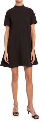 Chloé Satin-Back Crepe Long-Sleeve Dress