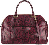 Cole Haan Tali Double Zip Snake-Embossed Satchel