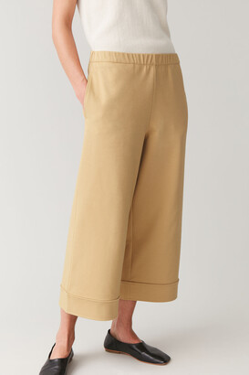 Cos Cotton-Mix Wide-Leg Trousers