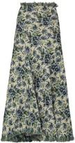 Thumbnail for your product : yuhan wang Signe floral-jacquard midi skirt