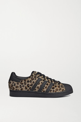 adidas Atmos Superstar Leather-trimmed Leopard-print Calf Hair Sneakers
