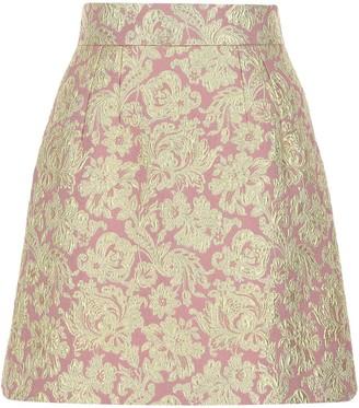 Dolce & Gabbana Lame Jacquard Mini Skirt