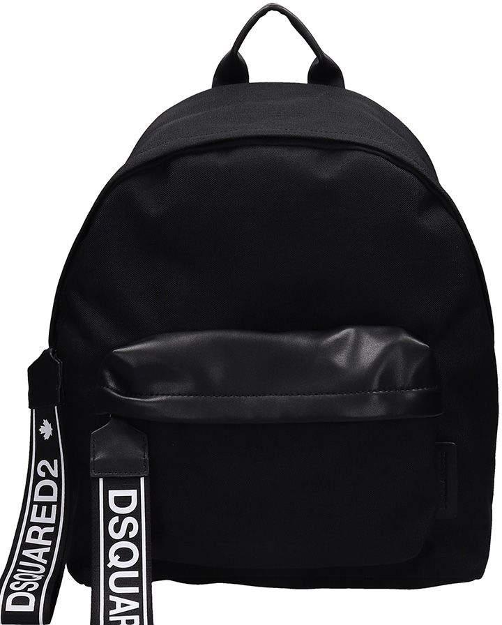 DSQUARED2 Black Cotton Backpack