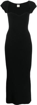 KHAITE Allegra sweetheart-neckline ribbed dress