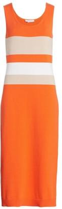 Joan Vass Colorblock Sweater Dress