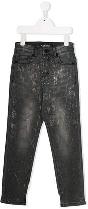 John Richmond Junior Embellished Slim-Fit Jeans