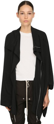 Rick Owens ZIP UP SILK BLEND CREPE JACKET