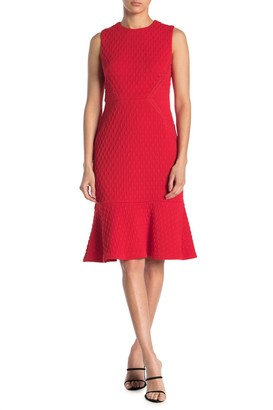 Maggy London Flounce Hem Sheath Dress