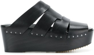 Rick Owens Studded Wedge Sandals