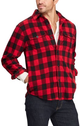 Chaps Big & Tall Microfleece Shirt Jacket