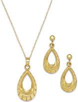 Macy's Textured Teardrop Jewelry Set in 10k Gold