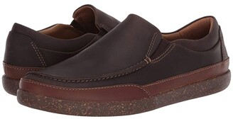 Clarks Un Lisbon Twin (Brown Oily Leather) Men's Shoes