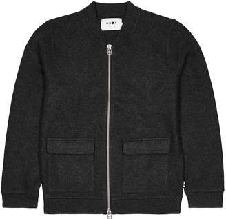 NN07 Charcoal Wool-blend Bomber Jacket