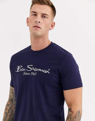 Ben Sherman Large Logo T-Shirt-Navy