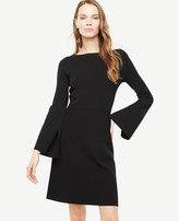 Ann Taylor Slit Sleeve Flare Sweater Dress