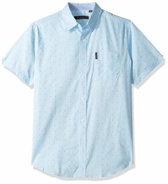 Ben Sherman Men's SS GEO Maze Print Shirt