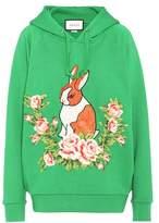 Gucci Appliquéd cotton hoodie