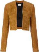 Saint Laurent collarless cropped jacket