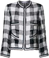 Ermanno Scervino checkered jacket with embroidered trim