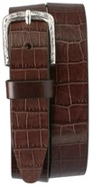 Trask Men's 'Rex' Croc Embossed American Steer Leather Belt