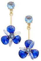 Kate Spade Gold-Tone Blue Crystal Drop Earrings