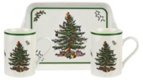Spode Christmas Tree Melamine Mug and Tray Set