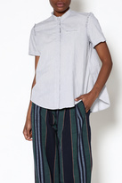 Gary Graham Blue Button-Down Top