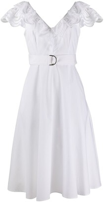 P.A.R.O.S.H. V-neck poplin dress