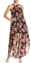 Just For Wraps Chiffon Floral Maxi Dress
