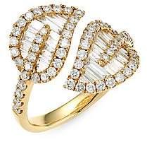Anita Ko Women's Medium 18K Yellow Gold & Baguette Leaf Diamond Ring