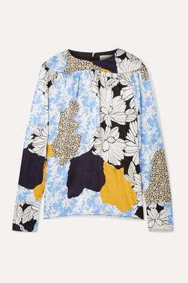 By Malene Birger Napoli Printed Satin Blouse - Blue