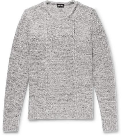 Giorgio Armani Slim-Fit Mélange Wool-Blend Sweater