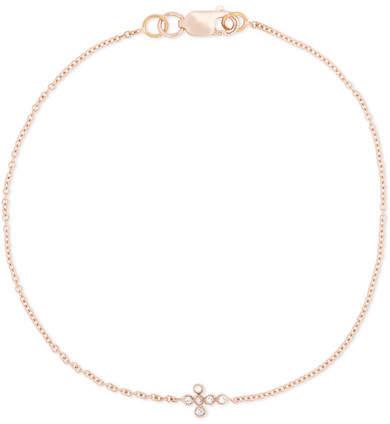 Ileana Makri Mini Cross 18-karat Rose Gold Diamond Bracelet