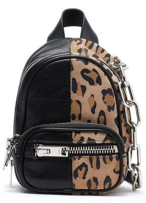 Alexander Wang Attica Leopard-print Suede And Textured-leather Backpack