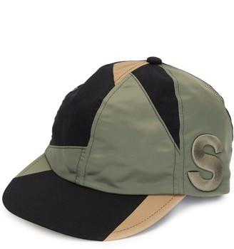Sacai Colour-Block Panelled Cap