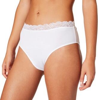 Hanro Women's Cotton Lace Maxi Slip Full Brief