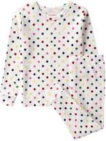 Joe Fresh Toddler Girls' Polka Dot Sleep Set, Cream (Size 5)