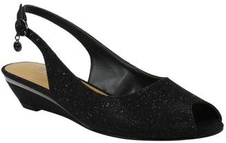 J. Renee Low-Wedge Open-Toe Sandals - Narro