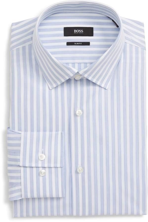 9522329c Boss Slim Fit Dress Shirt - ShopStyle