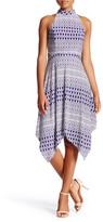 Jessica Simpson Printed Mock Neck Midi Dress