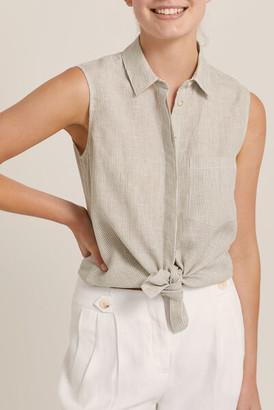Sportscraft Daisy Sleeveless Linen Shirt