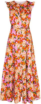 Borgo de Nor Gabriella ruffled fruit-print maxi dress