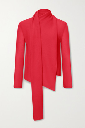 Sally LaPointe Draped Cashmere Sweater - Red