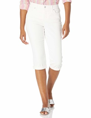 Gloria Vanderbilt Women's Plus Size Rail Straight Capri
