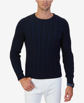 Nautica Men's Cable Knit Crew-Neck Sweater, Only at Macy's