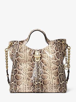 MICHAEL Michael Kors Uptown Astor Legacy Large Snake-Embossed Leather Tote Bag