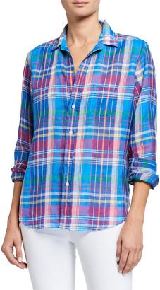 Frank And Eileen Eileen Button-Down Plaid Linen Shirt