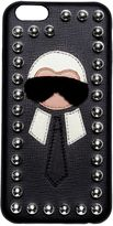 Fendi Karl Mink Detail Leather Iphone 6 Case