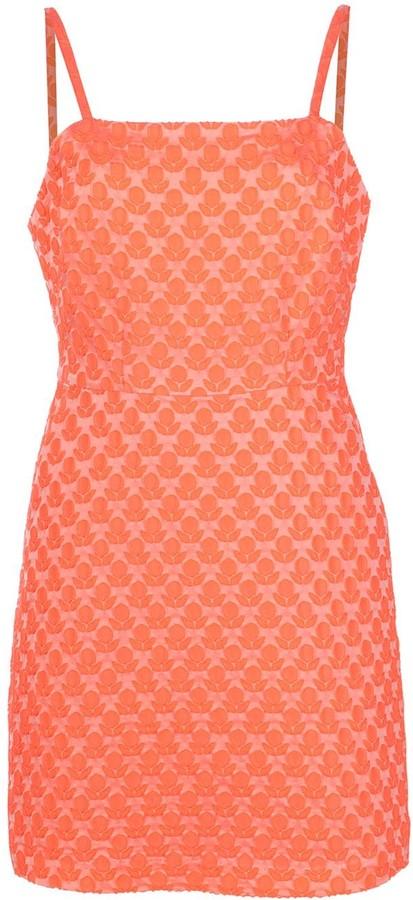 Milly Floral Cloque Bernadene Dress