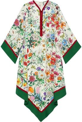 Gucci Flora print Kimono-style dress